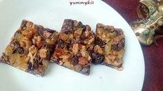 Healthy snack for kids -Nuts Dry Fruits Honey Bar Recipe | YummyKit.com