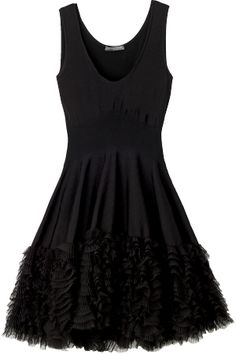 Alexander McQueen--Simply beautiful black dress.