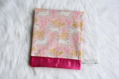 Silky Baby Blanket Unicorn Minky Satin And Magic Michael Miller