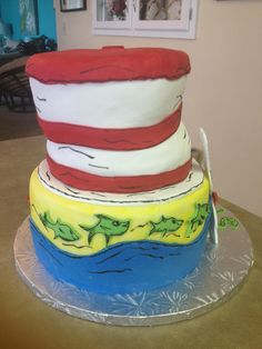 And another view of the Dr. Suess cake