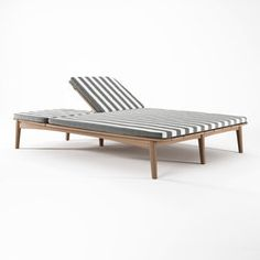 All about Grasshopper DOUBLE SUNBED WITH CUSHION SUNBRELLA TUSCAN STRIPE by…