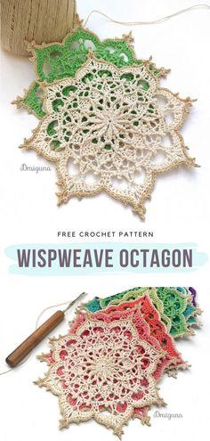 Motif Mandala Crochet, Free Crochet Doily Patterns, Crochet Snowflake Pattern, Crochet Motifs, Crochet Snowflakes, Crochet Squares, Thread Crochet, Crochet Designs, Crochet Crafts