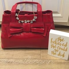 Flash Sale❗️Kate Spade MaryAnne Patent Bow Bag Huge markdown!! This bag is dreamy in person! Brand NEW Luxurious, authentic Kate Spade Claverly Maryanne. Needs a loving home. I'm downsizing. NO TRADES. See photo for specifications. Dustbag and all original contents included. Treat yourself! This bag is stunning. New Listing added with more photos!Winter Wish List Host Pick ❗️Not eligible for any discounts on bundles❗️However, I am offering FREE shipping- just ask  kate spade Bags Satchels
