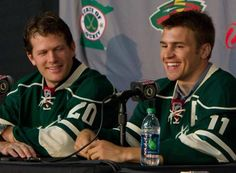 MINNESOTA WILD!!! Defenseman Ryan Suter & forward Zach Parise---so freaking excited for the upcoming hockey season!