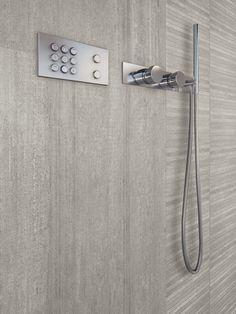 Porcelain stoneware wall/floor tiles with concrete effect CEMENTO by Casalgrande Padana Contemporary Bathrooms, Contemporary Decor, Wall And Floor Tiles, Wall Tiles, Tile Stores, Dream Bathrooms, Nature Decor, Stone Tiles, Bathroom Sets