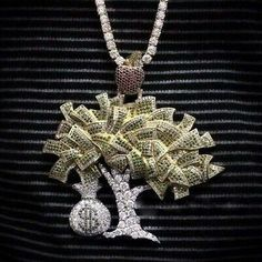 Girly jewelry - Details about Awesome Rich Money Tree With Dollor Pouch Stones In 925 Two Tone Silver Pendants – Girly jewelry Luxury Jewelry, Bling Jewelry, Custom Jewelry, Rapper Jewelry, Hip Hop, Diamond Cross Necklaces, Gold Chains For Men, Silver Pendants, Swagg