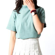 2016 New Summer Women T Shirt Short Style Casual Stand Collar Crop Top Bottoming Shirt Basic T Shirt Women Candy Color Tops Tee-in T-Shirts from Women's Clothing & Accessories on Aliexpress.com | Alibaba Group