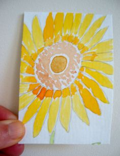 ACEO ATC Original Watercolor Art Card  by ChanelledCreations, £6.00