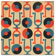 record sleeve for Czechoslovakian record label Supraphon, late 1950's / early 1960's