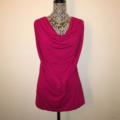 🎀 Mossimo Cowl Neck Top 🎀 Previously loved and in excellent condition!! Fuchsia color. 💟 Mossimo Supply Co. Tops Blouses