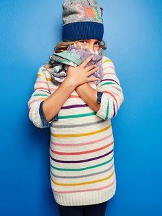 Multi-stripe sweater dress Product Image