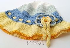 Crochet pattern - Summer flower hat - from 18 months to adult sizes. Permission to sell finished items. Pattern No. 141