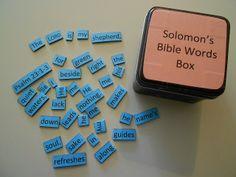 Bible Words Box