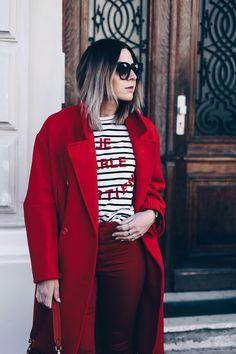 ee40f12dc8441b Colour Blocking wird einfarbig! Und  So kombiniere ich meinen roten Mantel!