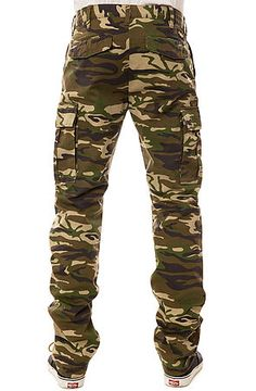 LOSER MACHINE* The Bates Cargo Pants, Woodland Camo