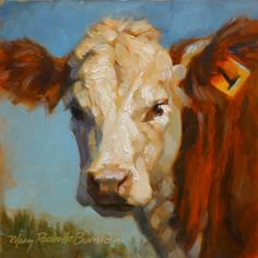 Art by Mary Rochelle Burnham: Number 1 Cow
