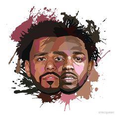 """Kendrick Lamar & J Cole"" Posters by zrmcqueen | Redbubble"