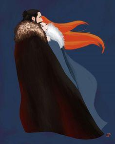 Jon Snow and Sansa Stark fan art, Game Of Thrones