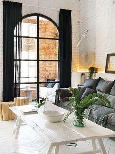 Belle #déco scandinave dans ce #salon lumineux ! http://www.m-habitat.fr/par-pieces/salon-et-salle-a-manger/idees-deco-pour-votre-salon-2636_A