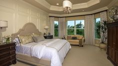 Wow large Sitting Area in Master Bedroom - Vizcaya Floorplan at Valencia Lakes Tampa 55+ #activeadult #glhomes