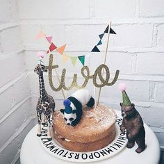 """molly-meg on Instagram: """"TWO! The best cake by @thetinyacorn including our cake toppers handmade by @claraivy"""""""