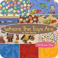 Where The Toys Are Fat Quarter Bundle Dan Morris for RJR Fabrics
