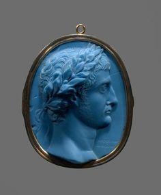 roman glass cameo, ca. 20 A.D.