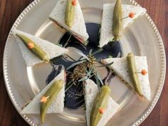 25 Best Halloween Appetizers | Halloween Party Ideas and Recipes : Food Network | Food Network Halloween Appetizers, Halloween Party, Chicken Pumpkin, Tetrazzini, Black Food, Eat The Rainbow, Tea Sandwiches, Roasted Butternut Squash, Gazpacho