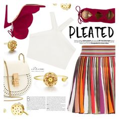 """Pleats,Please"" by totwoo ❤ liked on Polyvore featuring Missoni, BCBGMAXAZRIA, Aquazzura and Chloé"
