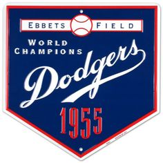 Dodgers-1955 Tin Sign from AllPosters.com - $12.99