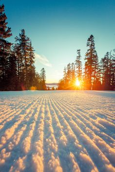 Sunset skiing at Northstar. Lake Tahoe, California - Add a visit to Jimmy Beans Wool in Reno, NV to the list of things to do while in Tahoe!