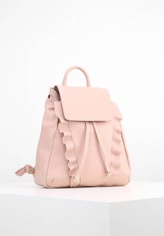 """Pinko. ALMERIA - Rucksack - rosa chintz. Pattern:plain. length:11.0 """" (Size One Size). width:3.5 """" (Size One Size). Lining:textile. carrying handle:3.5 """" (Size One Size). Outer material:leather. height:12.0 """" (Size One Size)"""