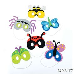 Be an enigmatic insect with this Bug Mask Craft Kit for kids! Pass the kits out as party favors at a bug birthday party, or add them to classroom supplies ...