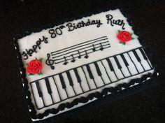 Happy Birthday to You! Music Birthday Cakes, Music Themed Cakes, Music Cakes, Music Themed Parties, Baseball Birthday Party, 13th Birthday Parties, Birthday Fun, Family Tree Cakes, Piano Cakes