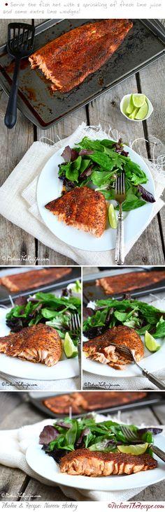 Blackened Salmon (Homemade Seasoning) | PictureTheRecipe.com