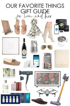 Our Favorite Things Gift Guide: For Him and Her / Read all about our favorite things in the gift guide including fashion, electronics, throw blankets, home decor, and more. Homemade Christmas Gifts, Christmas Gift Guide, Christmas Fun, French Christmas, Smart Garage Door Opener, Cook Book Stand, Beautiful Home Gardens, Gallery Wall Frames, Thrifty Decor Chick