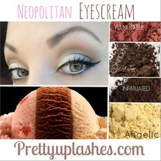 You scream, I scream, we all scream for Neopolitan-inspired Eyescream! Look created by Pretty Up Lashes using Younique eye pigments in vulnerable, confident, infatuated, and angelic with Moodstruck 3d fiber lashes. Available at prettyuplashes.com