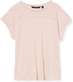 T-Shirt  Lässiges, nachhaltiges T-Shirt mit kurzen Ärmeln vom dänischen Label VERO MODA mit Rundhalsausschnitt. Unser Tipp: Zu dem weiten Modell passen am besten schmale Hosen.. nachhaltiges T-Shirt Kurzarm Verschluss: Ohne Verschluss 70% Modal, 30% Polyester T-Shirt Pflegehinweis: keine Angabe Modellnummer: 10231082  Bekleidung, Damen, Tops, T-Shirts & Blusen, T-Shirts Shirt Bluse, Tshirt Colors, Lace, Tops, Fashion, Summer, Scale Model, Clothing, Moda
