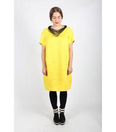 Marimekko Yellow Linen Dress - WST