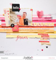 Layout mit Echo Park I Love Sunshine von Ulrike Dold