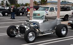 1926 Ford T-Bucket roadster pickup - silver - SBC power - fvl