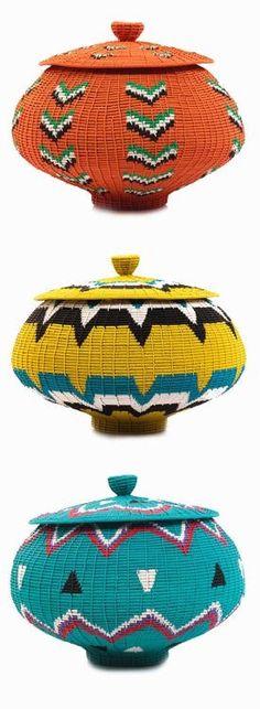 Zulu vintage wire baskets