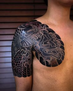 i like horimono. - Finish Cover up  #korea #irezumi #haewall #해월 by...