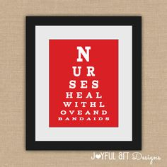 Cute Nurse Eye Chart for the doctor's office. Nurse Office Decor, School Nurse Office, Nurse Decor, Doctors Office Decor, Doctor Office, School Nursing, Icu Nursing, Nursing Assistant, Nursing Schools