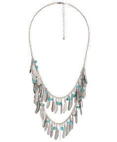 tribal feather charm necklace @forever21