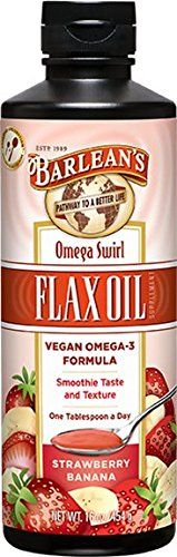Barlean's Organic Oils Omega Swirl Flax Oil, Strawberry Banana, 16-Ounce Bottle -- Check out this great product.
