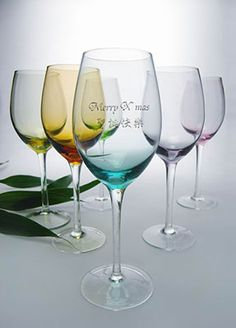 Personalized Engraved Wine Glass / Goblet with Christmas.
