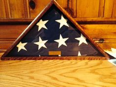 Memorial Flag Case with only 45-degree Angles