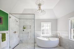 Get inspired by Traditional Bathroom Design photo by Clean Design Partners. Wayfair lets you find the designer products in the photo and get ideas from thousands of other Traditional Bathroom Design photos. Steam Showers Bathroom, Bathroom Spa, White Bathroom, Modern Bathroom, Small Bathroom, Master Bathrooms, Master Bedroom, Bathroom Vanities, Chic Bathrooms