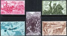 Egypt 1957 1952 Revolution Set Fine Mint SG 532 6 Scott 400 4 Other British Commonwealth Empire and Colonial stamps Here